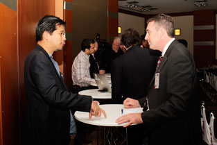 Khairil and Kent at the speed networking