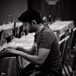 Manjeet working on his presentation