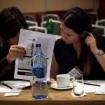 Nina and Banu, Turkcell, reviewing agenda
