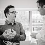 Maarten and Sascha in depth discussion