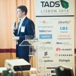Ben Klang presents as TADHack developer
